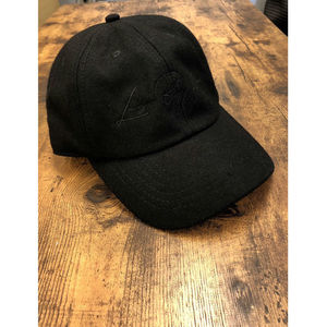 WOOL LOW CAP / BLACK
