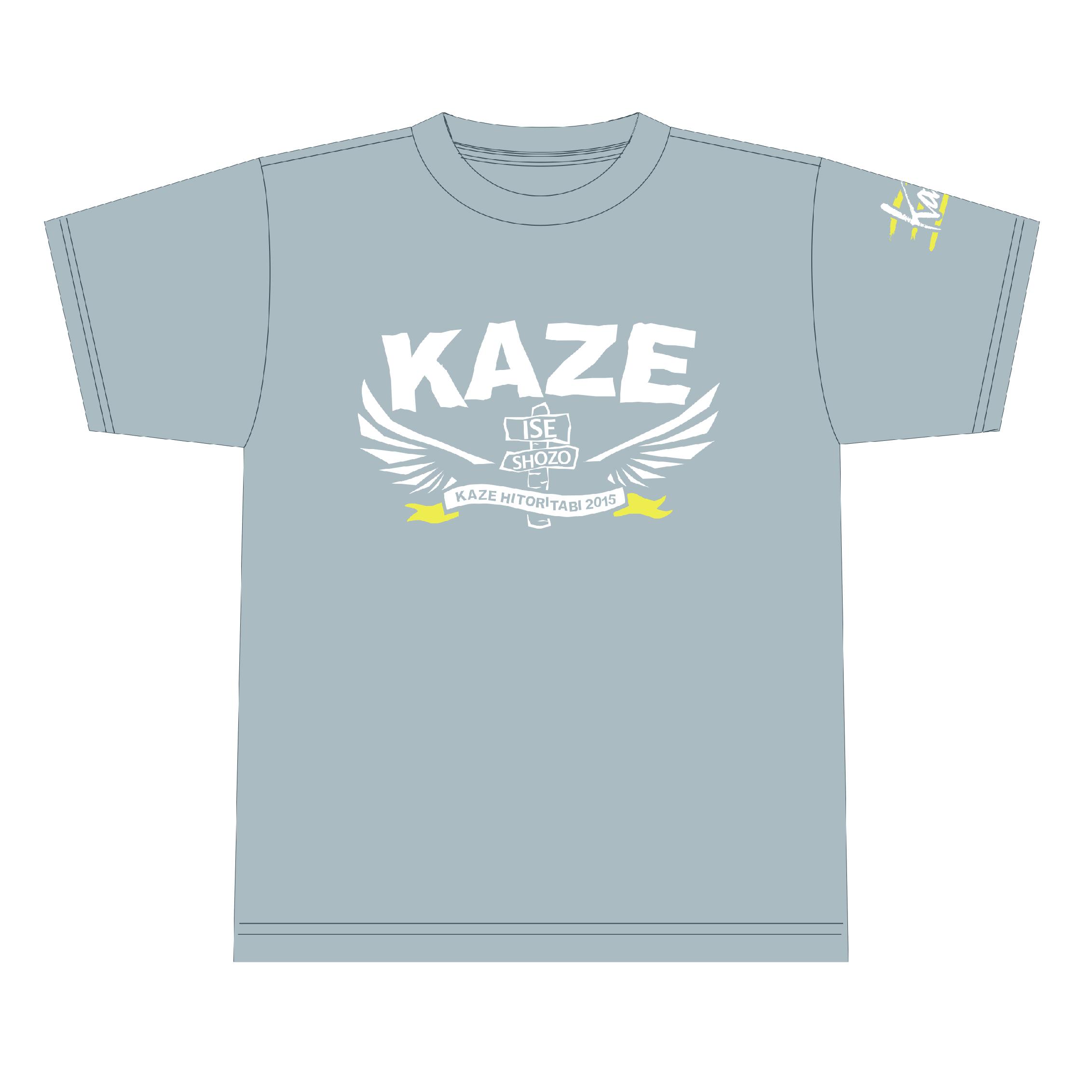 伊勢正三 2015Tシャツ<Kaze>【GRAY】