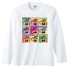 ポニテガール ロングスリーブTシャツ / ホワイト