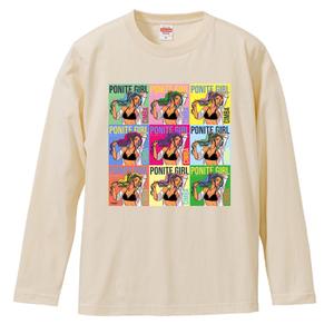 ポニテガール ロングスリーブTシャツ / ナチュラル