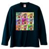 ポニテガール ロングスリーブTシャツ / ネイビー