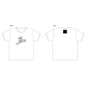 take it easy in your lifeTシャツ 白
