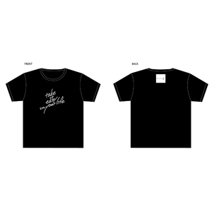 take it easy in your lifeTシャツ 黒