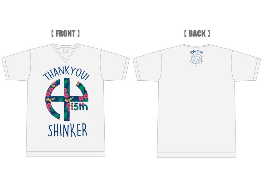 15th Thank you! Tシャツ(Vネックオートミール)