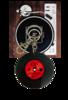 """KURONEKO RECORDS"" レコード型 キーチャーム"