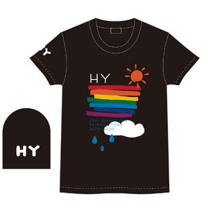 RAINBOW LINE Tシャツ(BLACK)