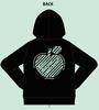 アップルミント ジップアップパーカー