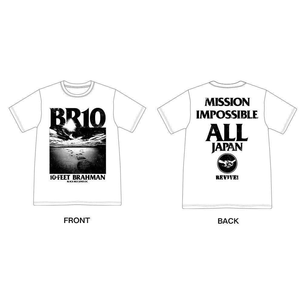 日本復興支援 10-FEET × BRAHMAN WネームTシャツ(白)