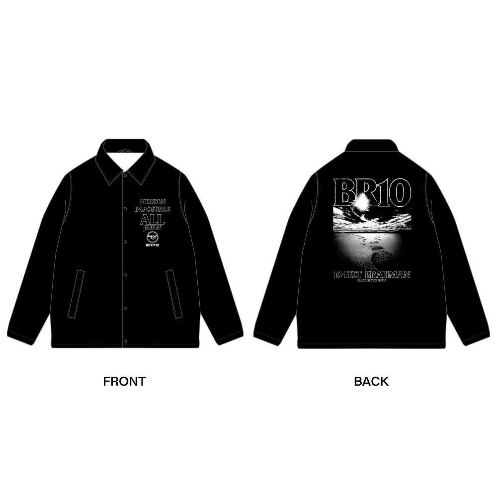 日本復興支援 10-FEET × BRAHMAN Wネームコーチジャケット(黒)