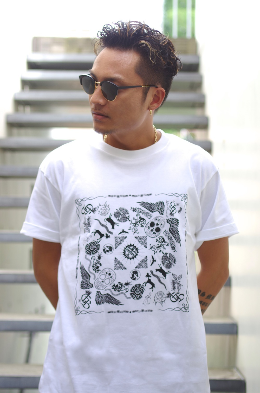 "【SALE商品】""BANDANA"" T-SHIRT / WHITE"