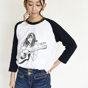 7分丈袖ベースボールTシャツ