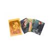 ポストカード4枚セット(ポーチ付き・蛍光オレンジ)