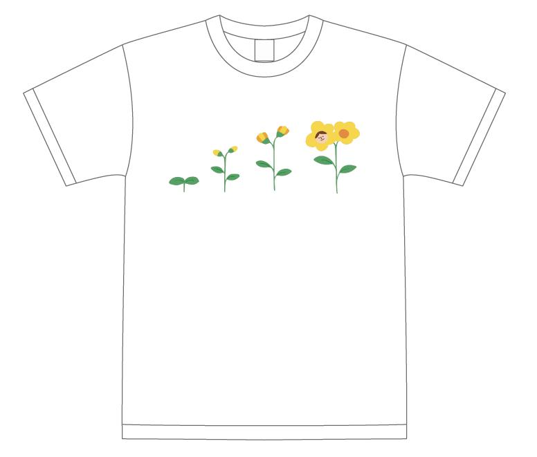 花が咲いたよTシャツ