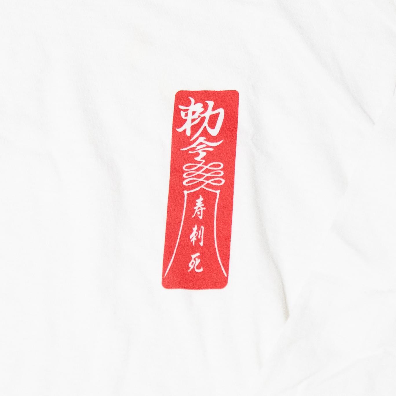 キョンシー Long Sleeve TEE(White×Red)