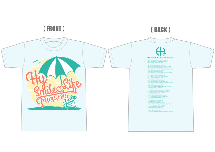 HY SMILE ♡ LIFE TOUR 2015 Tシャツ(ライトブルー)