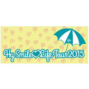 HY SMILE ♡ LIFE TOUR 2015 フェイスタオル  ハッピー総柄