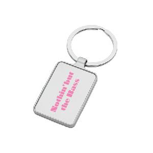 シルバーキーホルダー:プリンセスピンク