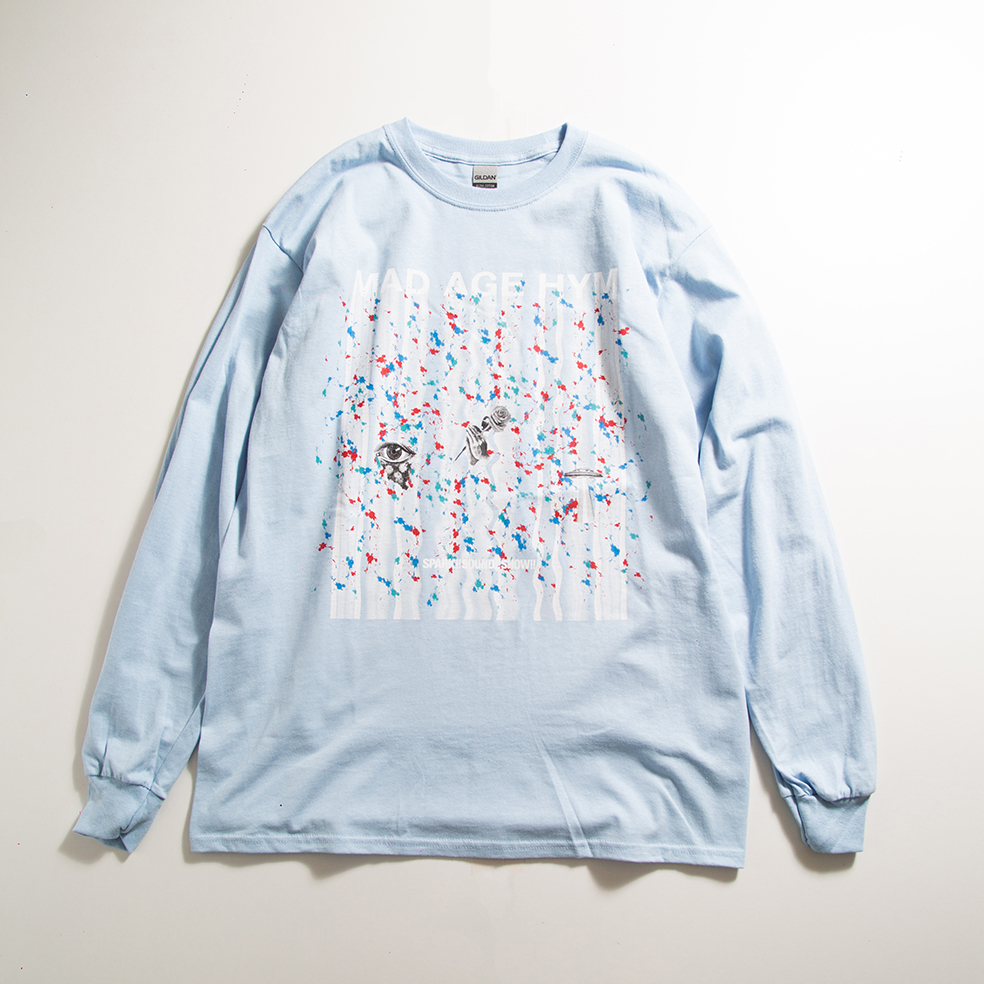 MAD PAINT Long Sleeve TEE(Light Blue)