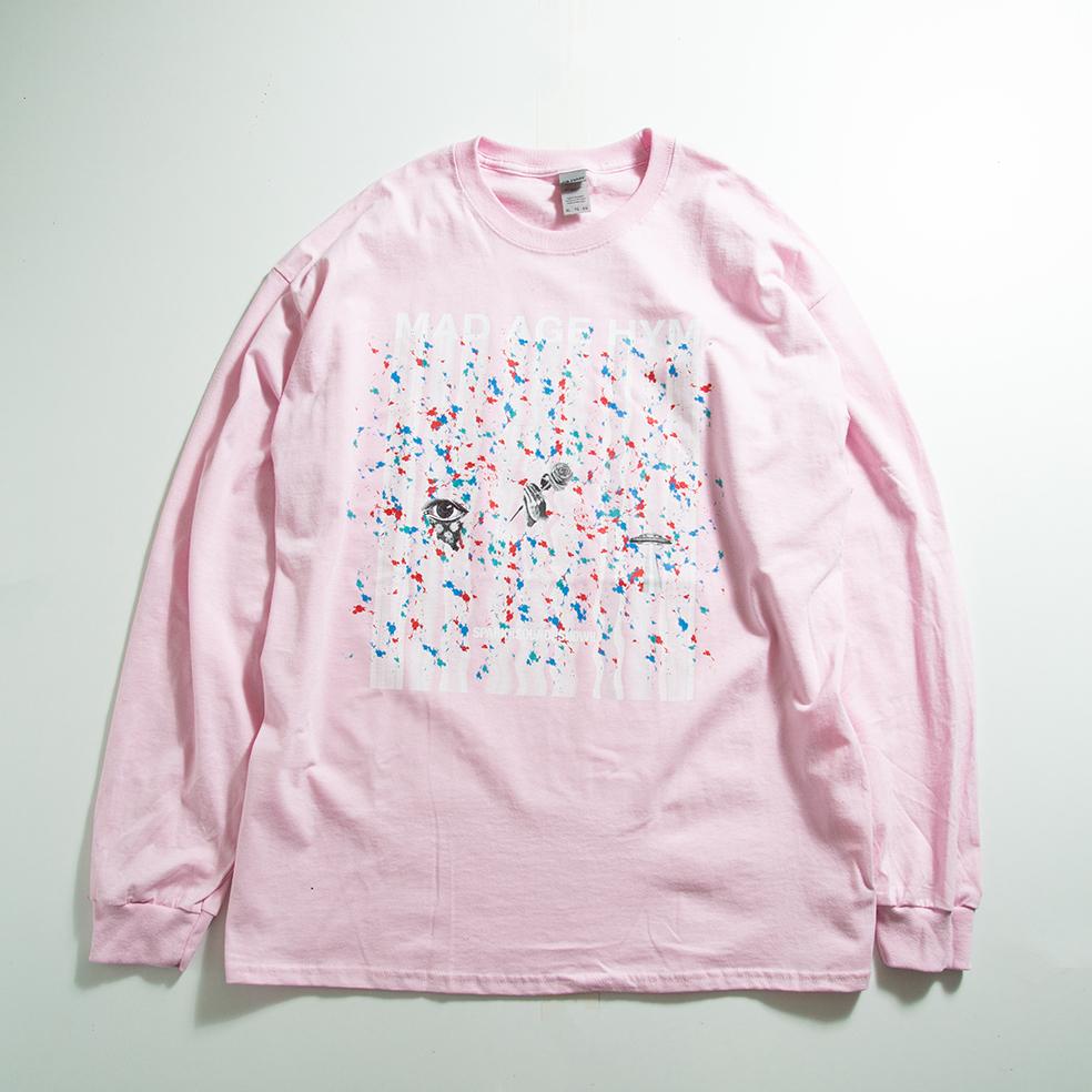 MAD PAINT Long Sleeve TEE(Light Pink)