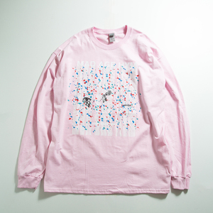 MAD PAINT Long Sleeve TEE(Light Pink)
