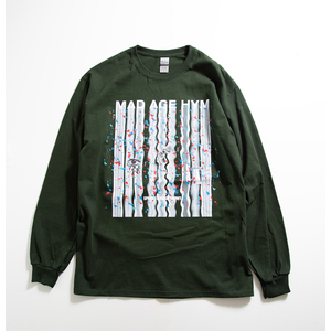MAD PAINT Long Sleeve TEE(Dark Green)