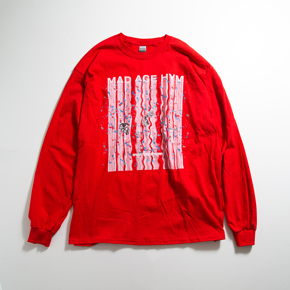 MAD PAINT Long Sleeve TEE(Red)