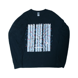 MAD PAINT Long Sleeve TEE(Black)