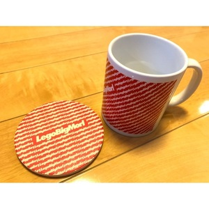 Mug Cup & Coaster(RED / BLUE)