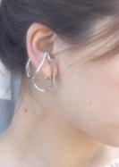 MH Ear Cuff loop earring(SILVER)