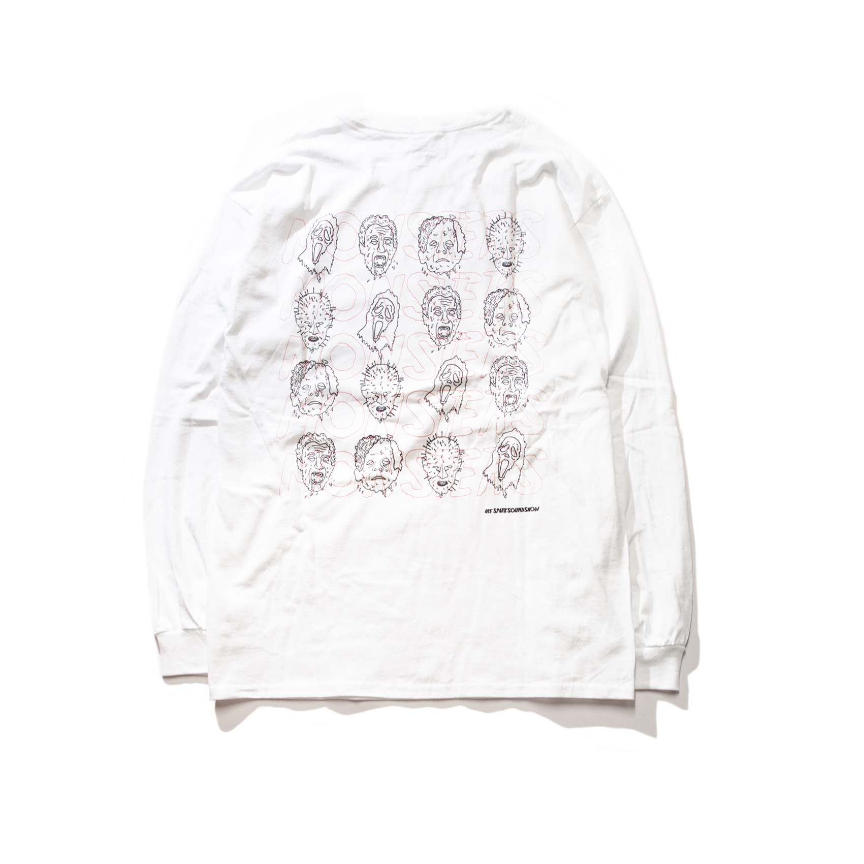 MONSTERS Long Sleeve TEE(White)