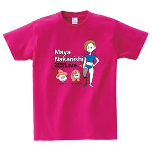 中西麻耶×NakamuraEmi×HIPPY 応援オリジナルTシャツ(ホットピンク)