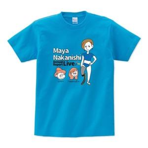 中西麻耶×NakamuraEmi×HIPPY 応援オリジナルTシャツ(ターコイズ)