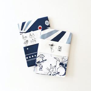 有村竜太朗×かまわぬ 特製風呂敷 月宴-藍-
