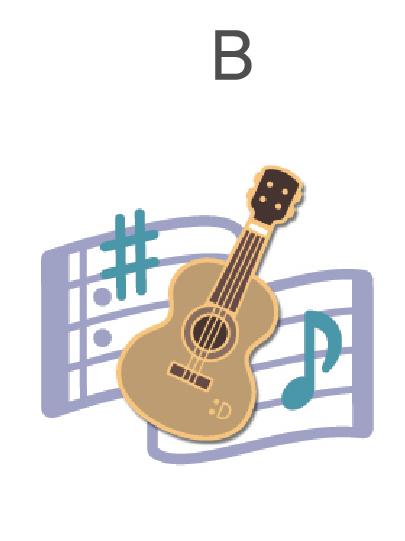 バッジ&ワッペンB(ギター型)