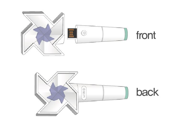 ペンライト型USB
