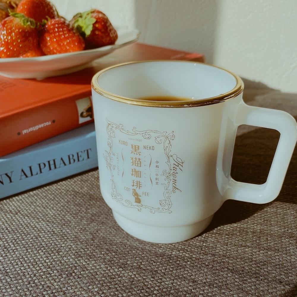 【受注販売】黒猫珈琲 Olde Milk Glass mug