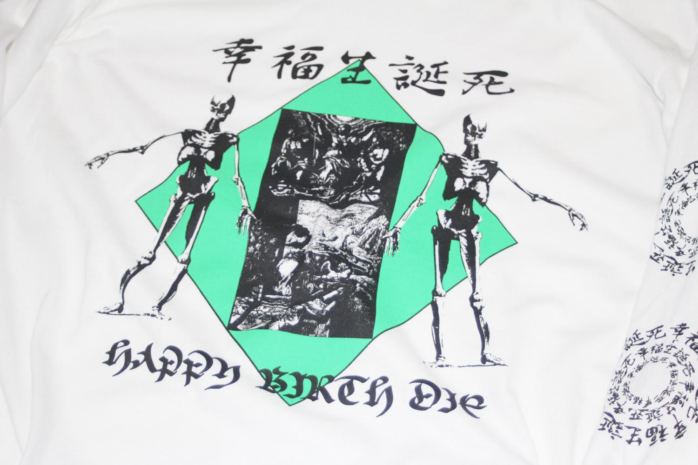 幸福生誕死 Long Sleeve T-Shirt (WHITE)