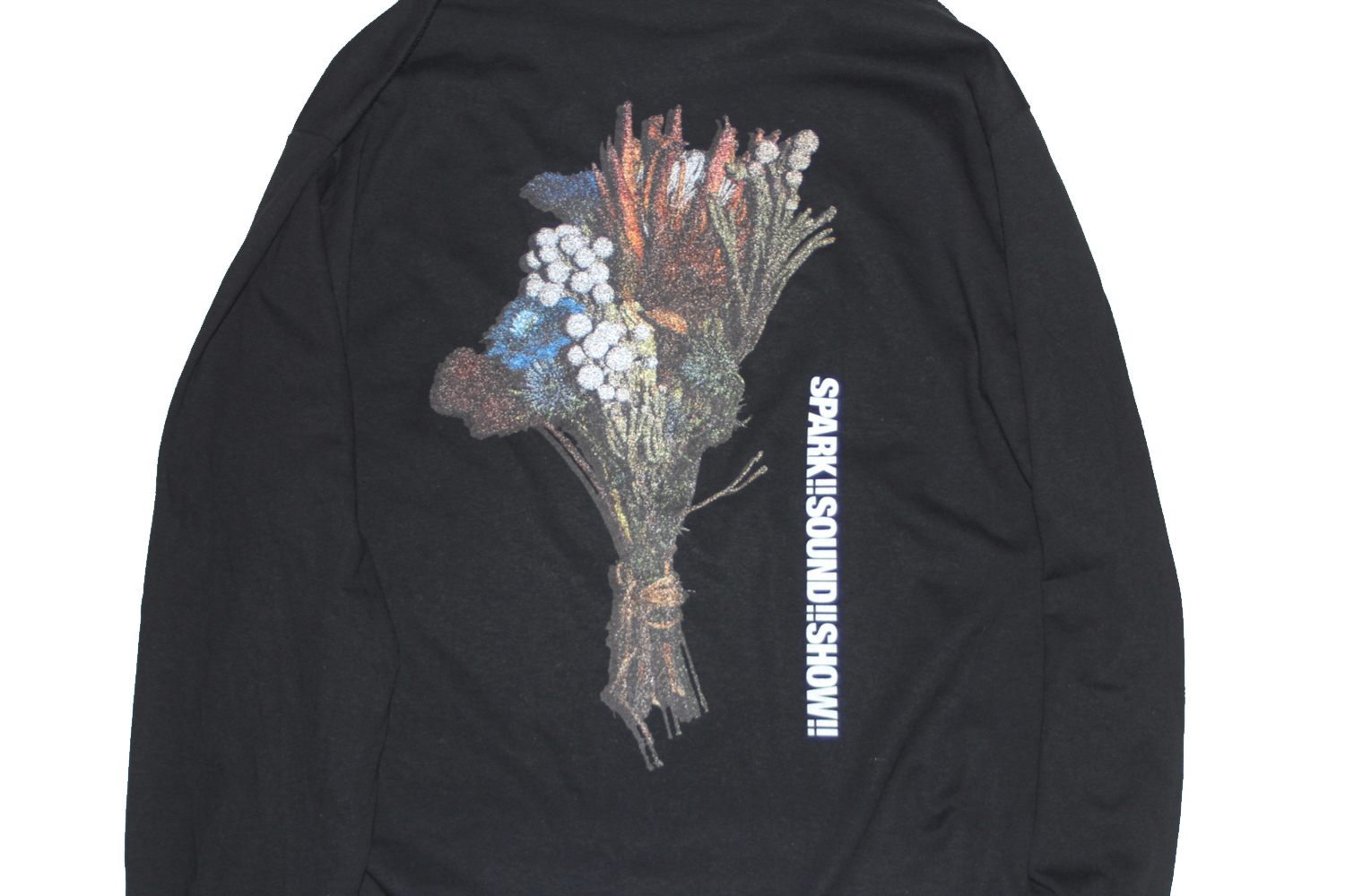 Candle Long Sleeve T-Shirt (BLACK)
