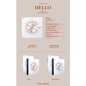 【オンライン特典会】CIX 4th EP Album「'HELLO' Chapter Ø. Hello, Strange Dream」2枚セット