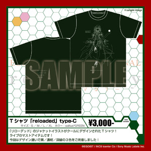 Tシャツ 「reloaded」 type-C saltus*GREEN
