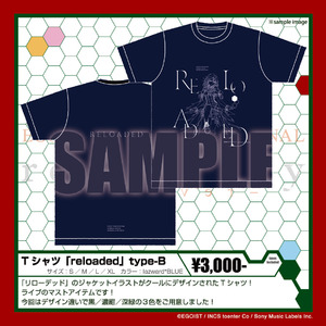 Tシャツ 「reloaded」 type-B lazward*BLUE