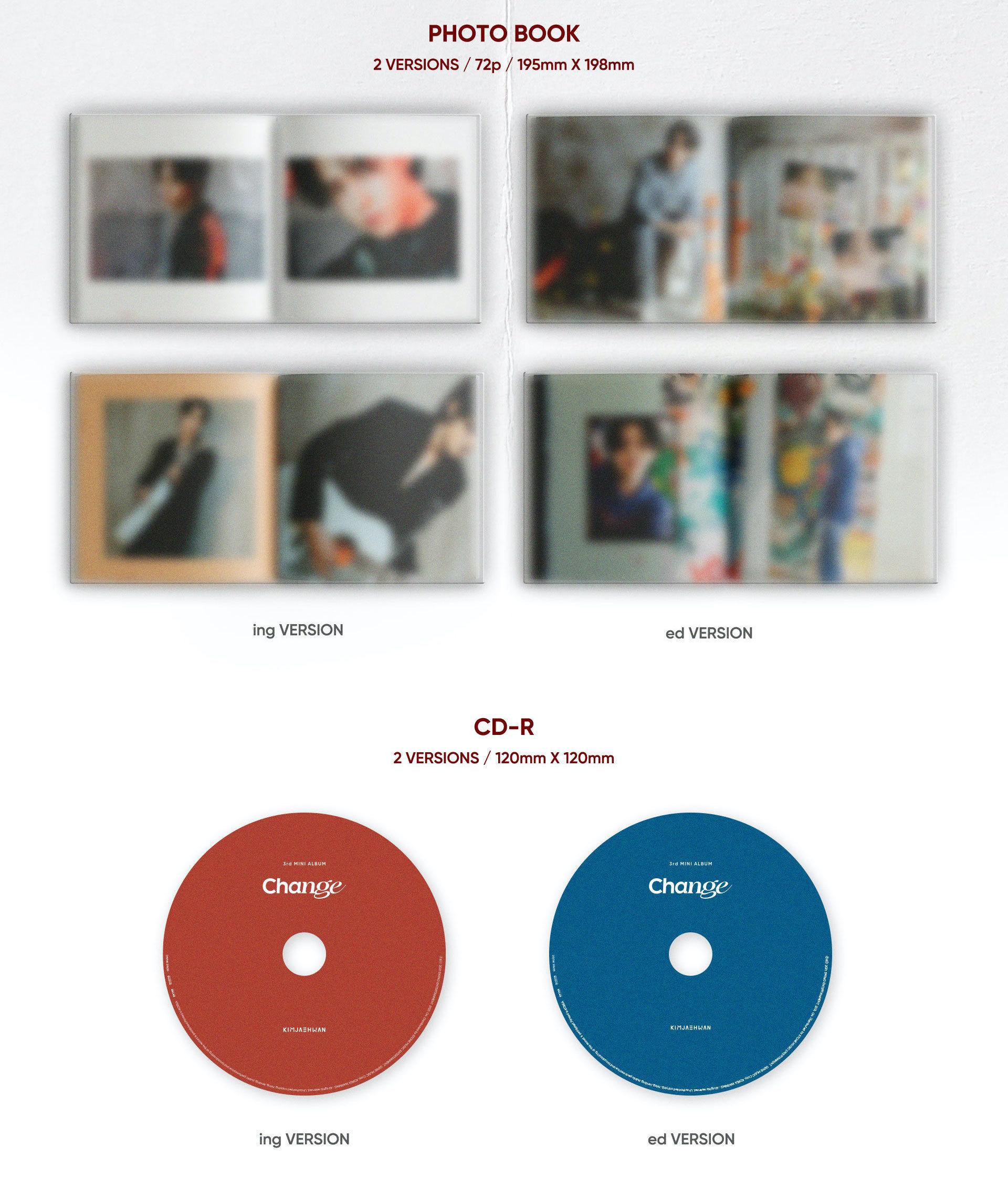 【オンライン特典会1部/1枚購入】キム・ジェファン3rd MINI ALBUM 'Change'