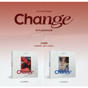 【販売終了/オンライン特典会1部/2枚購入】キム・ジェファン3rd MINI ALBUM 'Change'