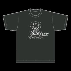 BABY BYE BYE  Tシャツ / スモークブラック