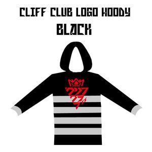 クリフクラブカタカナロゴフーディー(BLACK)