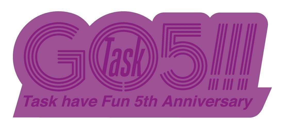 Go Task 5!!!メタリックロゴステッカー