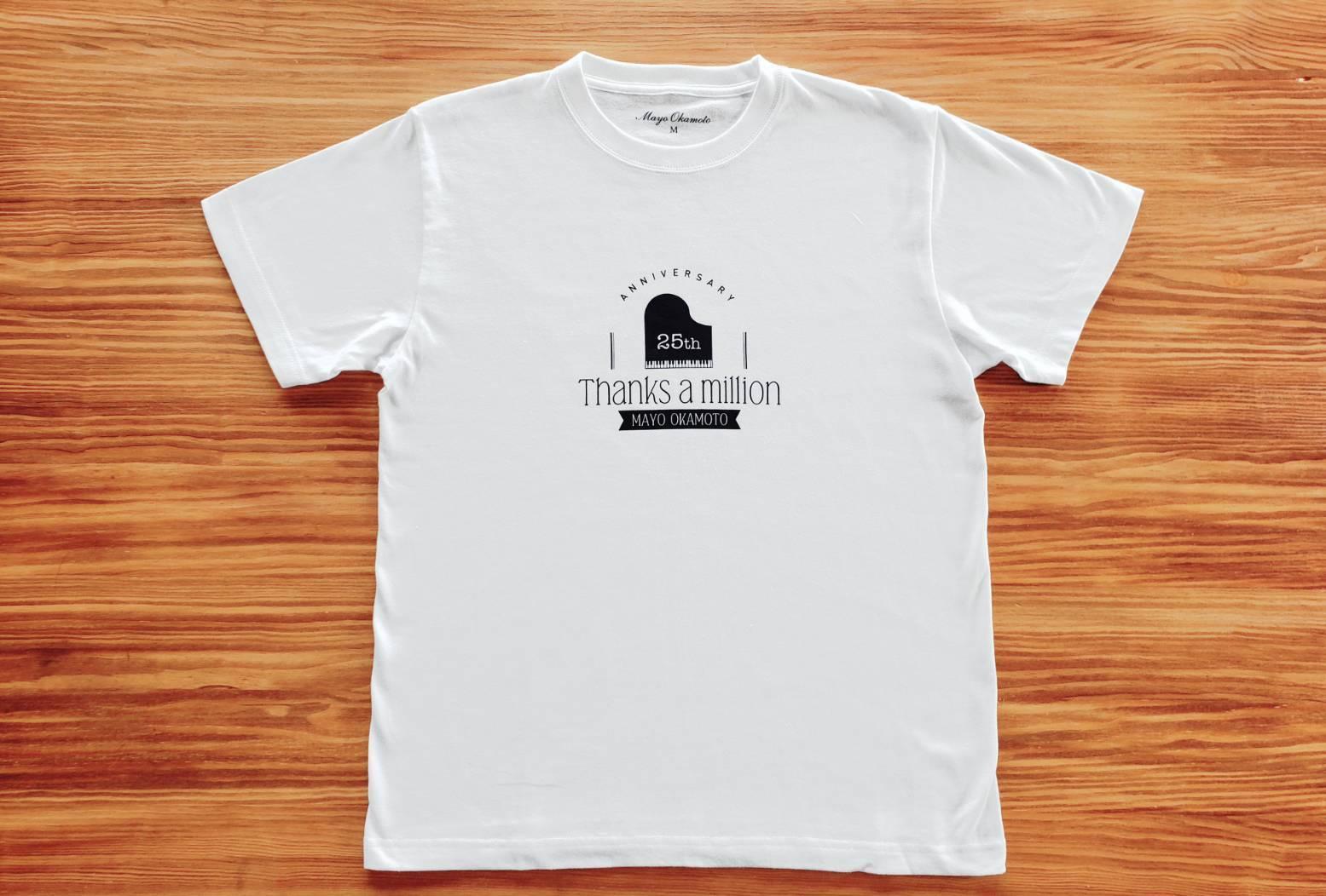 岡本真夜OFFICIALGOODS  25th 直筆サイン入りTシャツ
