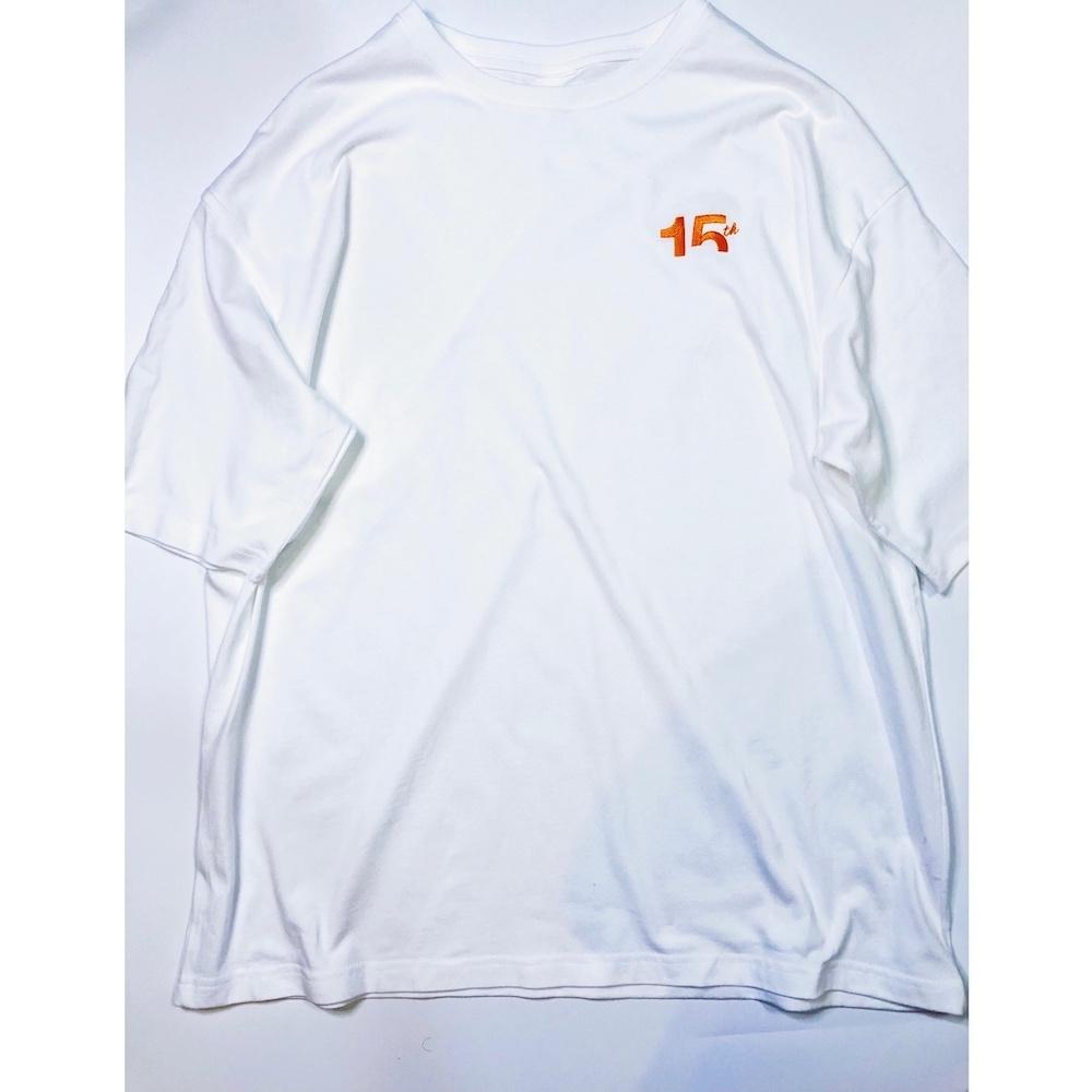 15th 刺繍BigTee(White)